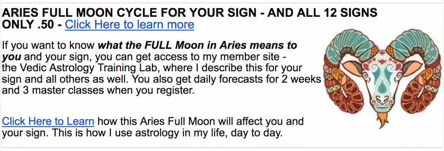 Full Moon in Aries – Vedic Astrology
